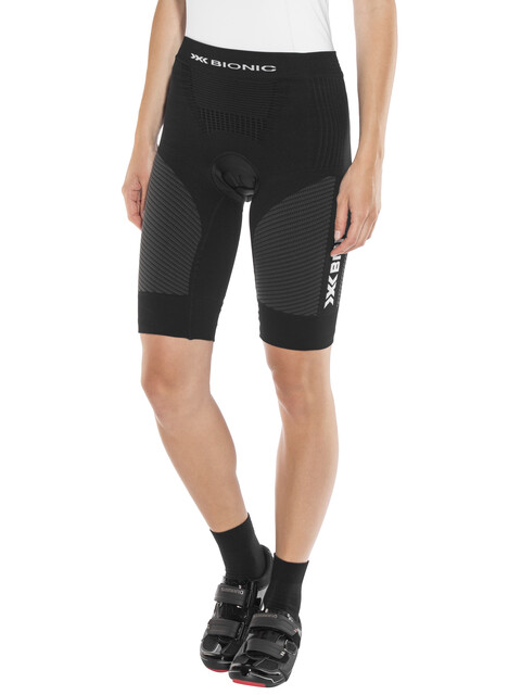 X-Bionic Race Evo fietsbroek kort Dames grijs/zwart